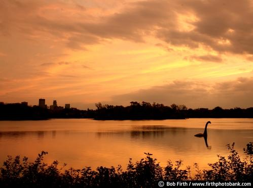 silhouettes;monster;sunrises;summer;photo;Minnesota;Minneapolis skyline;lakes;Minneapolis;Lake of the Isles;Bob Firth;sunrise;sunset;Mpls;MN