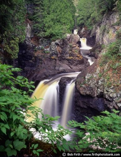 summer;river gorge;photo;northern Minnesota;North Shore waterfalls;North Shore Scenic Drive;rivers;moving water;Cascade River State Park;Minnesota State Parks;MN;up north