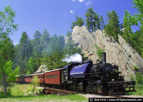 Black Hills;train;South Dakota;SD;1880 Historic Railroad;locomotive;tourism;Keystone;Hill City