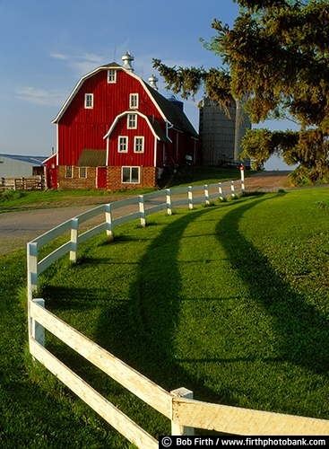 agriculture;Carver County;historic;Minnesota;MN;country;Kelzer Farm;red barn;rural;silo;summer;white fence;agricultural;farm