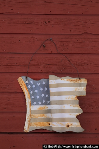 American flag;Americana;barn door;country;patriotic;red barn;Wisconsin;stars and stripes;WI