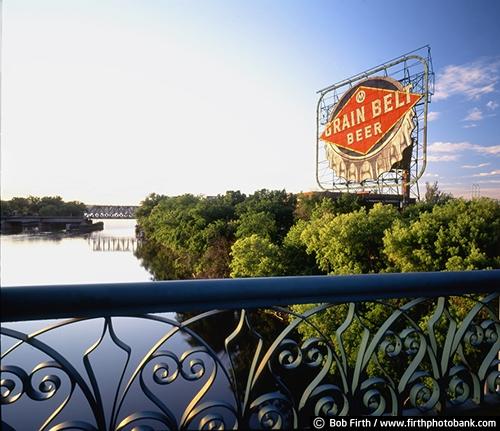 alcohol;bridge;Grain Belt Beer;historic;metal;Minneapolis;Minnesota;Mississippi River;MN;Mpls;old signs;signage;advertising